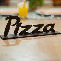 Palavra Decorativa com base  - Pizza