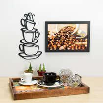 Palavra Decorativa para Parede - Xícaras - 34 x 17 cm