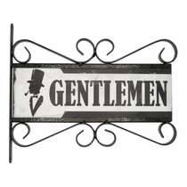 Flange Decorativa de Metal 28,5 x 32,5 cm - Gentlemen