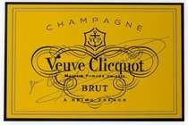 Placa Artesanal Laqueada -Veuve Clicquot