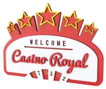 Placa Artesanal Laqueada - Casino Royal