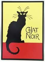 Placa Artesanal Laqueada - Chat Noir
