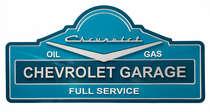 Placa Artesanal Laqueada - Chevrolet Garage