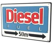 Placa Artesanal Laqueada - Diesel
