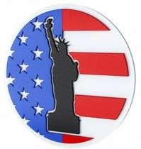 Placa Artesanal Laqueada - Estátua da Liberdade