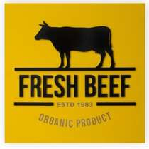 Placa Artesanal Laqueada - Fresh Beef