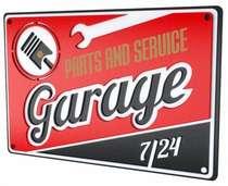 Placa Artesanal Laqueada - Garage