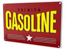 Placa Artesanal Laqueada - Gasoline