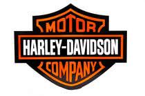 Placa Artesanal Laqueada - Harley Davidson