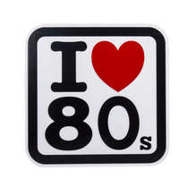 Placa Artesanal Laqueada - I Love Anos 80