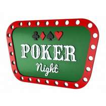 Placa Artesanal Laqueada - Poker Night