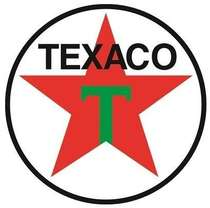 Placa Artesanal Laqueada - Texaco 1948