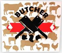 Placa Artesanal Laqueada - The Butcher