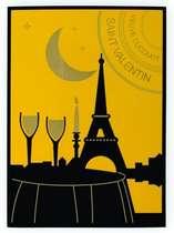 Placa Artesanal Laqueada - Veuve Clicquot Paris