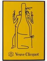 Placa Artesanal Laqueada - Veuve Clicquot Reims