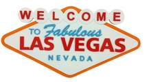 Placa Artesanal Laqueada - Welcome to Las Vegas