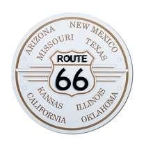 Placa Artesanal Rota 66 (Branca)