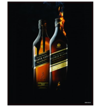 Placa Decorativa MDF - Black Label -  23x19 cm