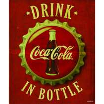 Placa Decorativa MDF - Bottle - 22x19 cm