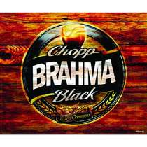 Placa Decorativa MDF - Brahma Black