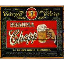 Placa Decorativa MDF - Brahma Retrô