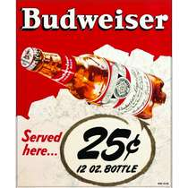 Placa Decorativa MDF - Budweiser Here