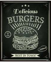 Placa Decorativa MDF - Burgers