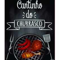 Placa Decorativa MDF - Canto do Churrasco - 22x19cm