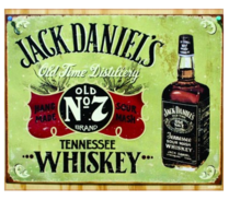 Placa Decorativa MDF - Jack Old Time Distillery - 19x23 cm