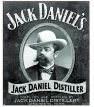 Placa Decorativa MDF - Jack Daniel Distiller - 23x19 cm