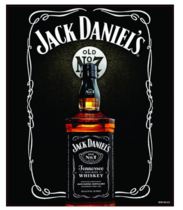 Placa Decorativa MDF - Jack Daniel's Garrafa - 23x19 cm