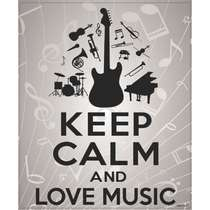 Placa Decorativa MDF - Love Music