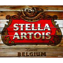 Placa Decorativa MDF - Stella Artois Envelhecida