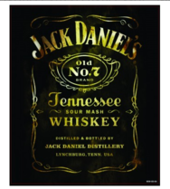 Placa Decorativa MDF - Wiskey Jack - 23x19 cm