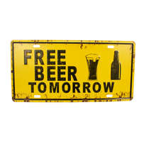 Placa Decorativa Metal - Free Beer Tomorrow