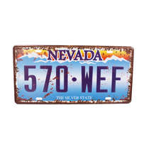 Placa Metal Vintage - Nevada