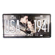 Placa Metal Vintage - Pearl Harbor