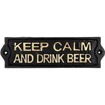 Placa Decorativa de Ferro - Keep Calm