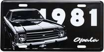 Placa Decorativa de Metal 15 x 30 cm - GM Opala 1981