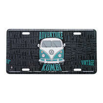 Placa Decorativa de Metal 15 x 30 cm - VW Kombi Lovers - Volkswagen
