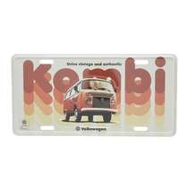 Placa Decorativa de Metal 15 x 30 cm - VW Kombi Vintage Authentic