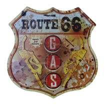 Placa Decorativa de Metal 30 x 30 cm - Gas 24 Hours