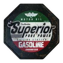Placa Decorativa de Metal 30 x 30 cm - Gasoline