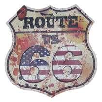 Placa Decorativa de Metal 30 x 30 cm - Route 66