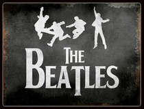Placa Decorativa de Metal 30x20cm - Beatles Jump
