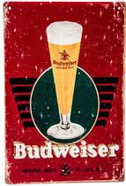 Placa Decorativa de Metal 30x20cm - Budweiser Tulipa