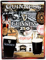 Placa Decorativa de Metal 30x20cm - Guinness 250 Years