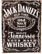 Placa Decorativa de Metal 30x20cm - Jack Daniel´s Old