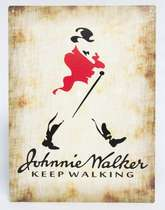 Placa Decorativa de Metal 30x20cm - Johnnie Walker