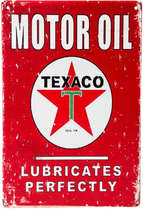Placa Decorativa de Metal 30x20cm - Motor Oil Texaco
